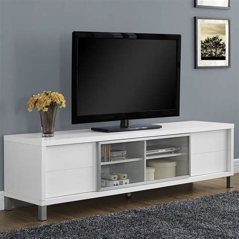 Lemari Wheels monarch hollow console white tv stand ebay