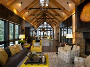Mountain Homes Interiors Rustic Mountain Style Lake Tahoe Home Idesignarch Interior Design Architecture