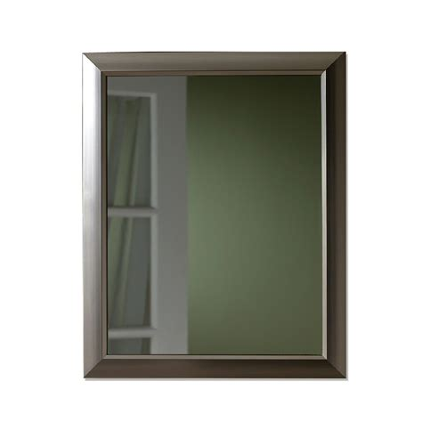 Brushed Nickel Medicine Cabinet Shop Broan 15 In X 19 In Brushed Nickel Metal Surface