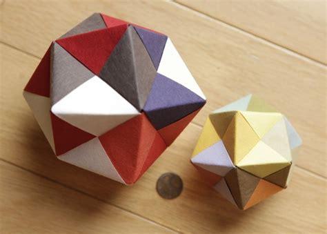 Modular Cube Origami - modular origami icosahedron octahedron cube 171 math craft