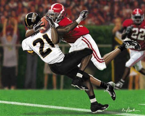 university  alabama  catch football college sports art prints