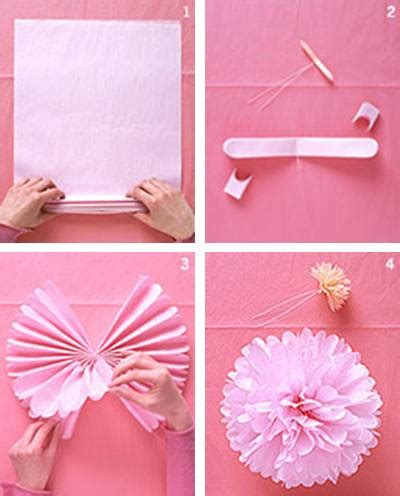 Crepe Paper Pom Poms How To Make - tissue paper pom poms