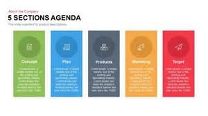 5 Sections Agenda Powerpoint Keynote Template Slidebazaar Meeting Agenda Template Ppt