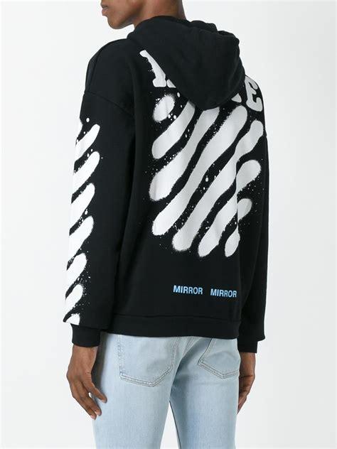 White Sweater S White Jaket Jaket Hoodie Korea 1 lyst white c o virgil abloh diag spray hoodie in black for