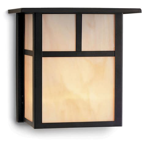 Craftsman Style Outdoor Wall Light In Bronze 8 Inches Tall Flush Outdoor Wall Lights