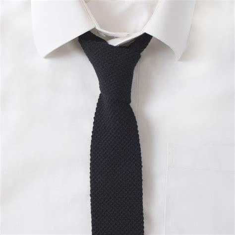 black knit tie knit cotton black tie gentlemint