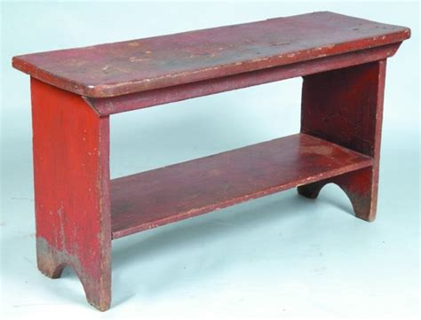 primitive bucket bench red painted bucket bench country primitive pinterest