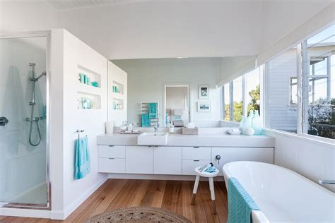 house bathroom serene beach house taken over by coastal beauty