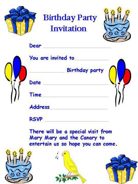 Invitation Letter Exle For Birthday Birthday Invitation Template Word Cimvitation