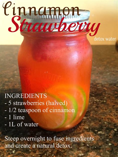 Detox Water With Only Strawberries cinnamon strawberry detox water s plate