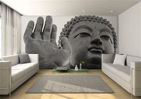 buddha wallpaper for bedroom buddha mural wall contemporary living room