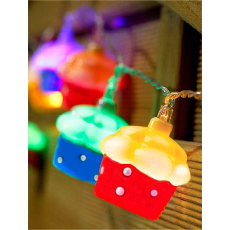 10 Led Battery Cupcake Fairy String Lights By Garden Cupcake String Lights