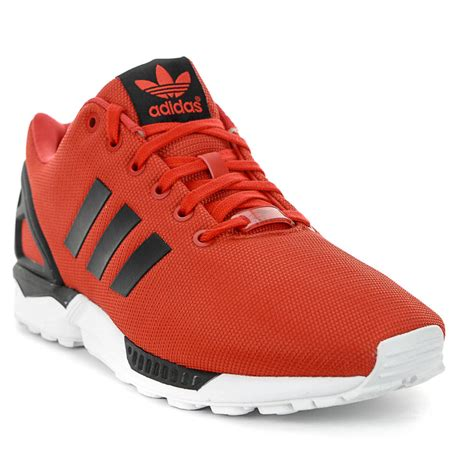 adidas originals zx flux redblack running shoes