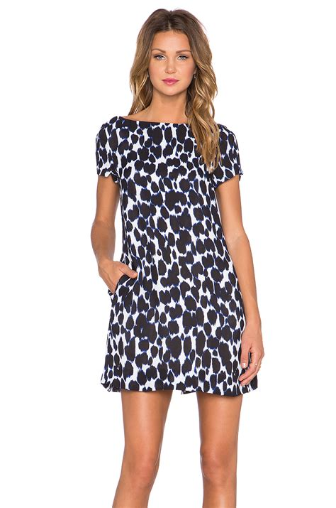 Kate Spade Talla Safiano Indigo kate spade leopard swing dress in blue indigo lyst