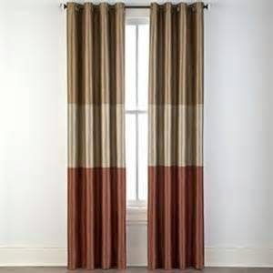 jc penneys draperies jcpenney studio trio grommet lined horizontal stripe panel