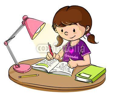 imagenes escolares animadas niña estudiando quot ni 241 a estudiando con lara de escritorio quot stock photo