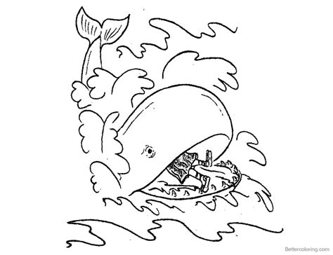 jonah coloring pages jonah and the whale coloring pages line drawing free