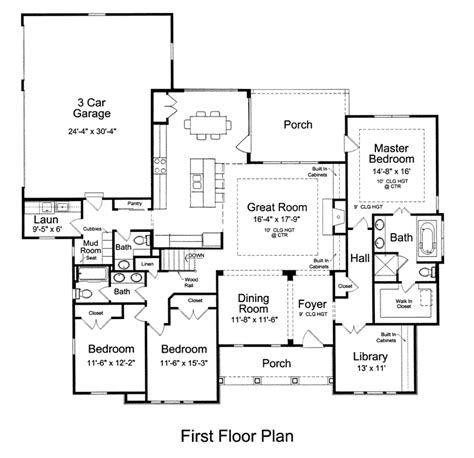 craftsman floor plan craftsman ranch house plan 92604