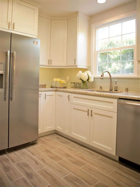 white kitchen cabinets tile floor photos hgtv