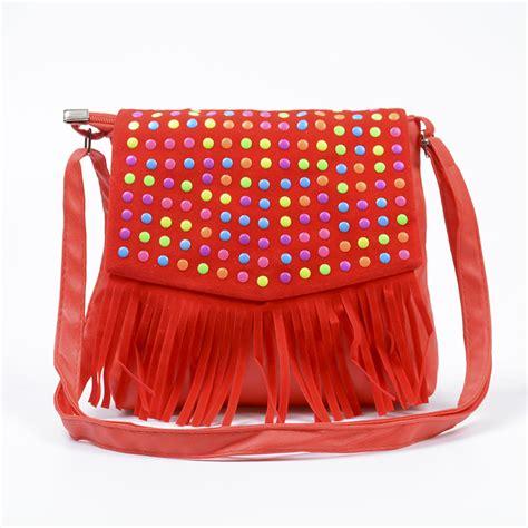 children tassel handbags girls small shoulder bag kids