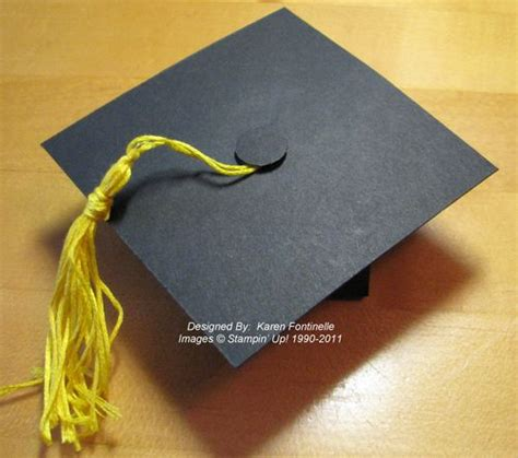 How To Make A Graduation Cap Out Of Paper - graduation cap box gift or favor sting with