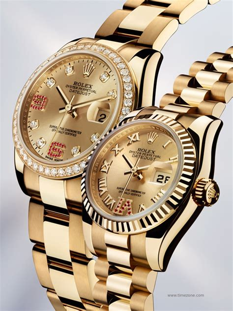 Rolex Oyster Perpetual Datejust Lady 31 and Lady Datejust watches presented at BaselWorld