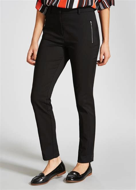 Best fit women's trousers front pleat
