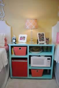 my custom built nightstand mini fridge microwave stand