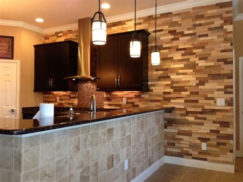 accent wall ideas for kitchen kitchen remodel wood accent wall contemporary kitchen
