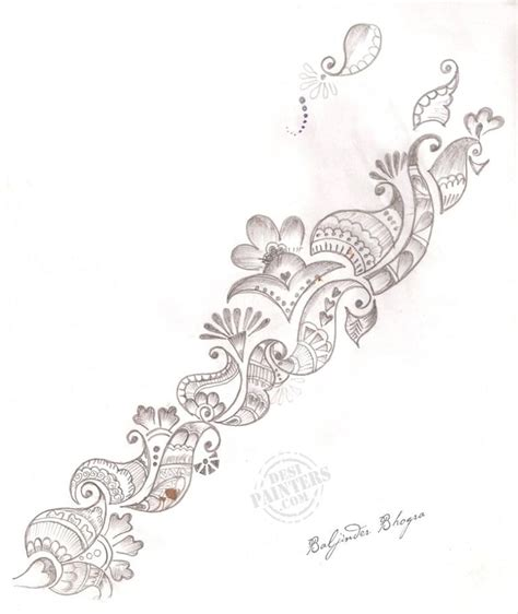henna tattoo design drawing pencil drawings pencil drawing design