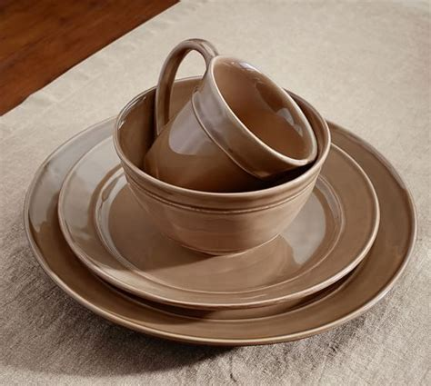 pottery barn china cambria dinnerware set mushroom pottery barn
