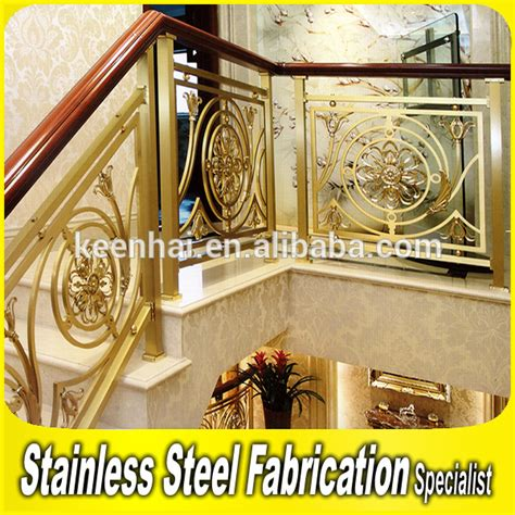 Outdoor Metal Handrails For Stairs European Style Decorative Indoor Stair Aluminum Handrail