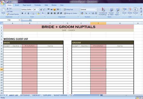 Wedding Checklist Exle by Wedding Checklist Excel
