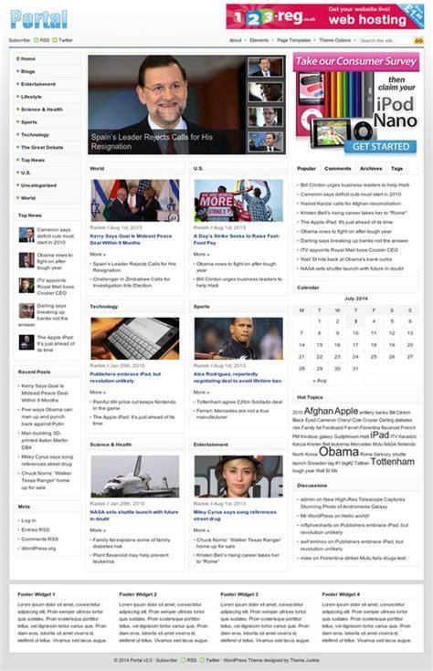 newspaper theme junkie theme junkie portal theme review bad