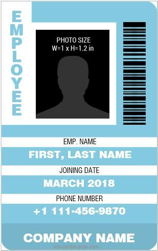 employee card template word 8 best professional design vertical id card templates