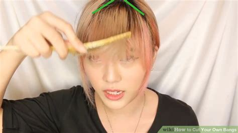 deep triangle bangs how to cut your own bangs with pictures wikihow