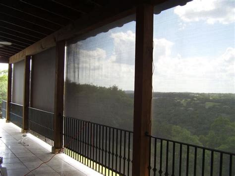 exterior roller shades rustic patio other metro by