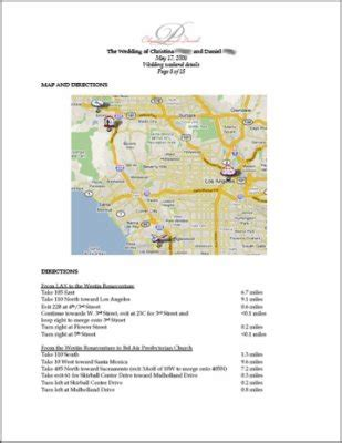 Information Packet Template The Packet Weddingbee