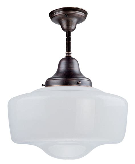 Schoolhouse Ceiling Semi Flush Mount By Dvi Lighting