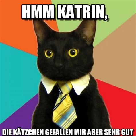 hmm katrin business cat meme on memegen