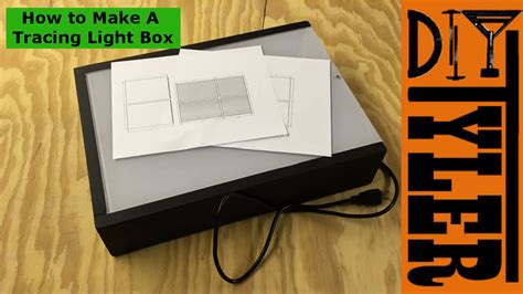light box tracing table how to build a diy tracing light box diytyler