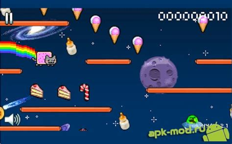 nyan cat lost in space apk nyan cat lost in space скачать apk на android взломанная версия mod 187 моды хаки и