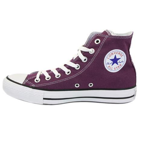 converse all chuck hi purple unisex trainers