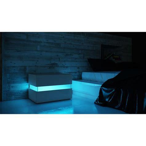 nachtkonsole led nachttisch nachtkonsole kommode flow in wei 223 oder schwarz