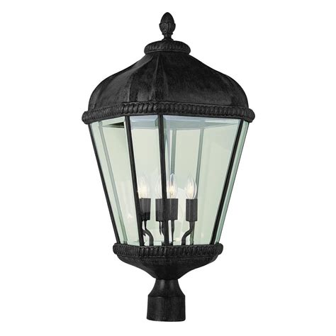 Black Light Outdoor Newport Crest Altina Outdoor Black Post Light 7787 06b