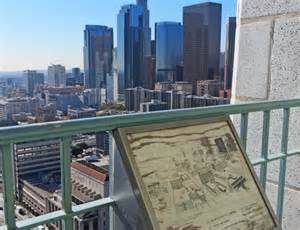 la city observation deck no car required walking around downtown los angeles