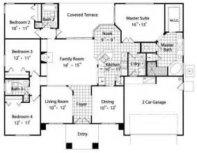 floor plans for a 4 bedroom house sunbelt house plans