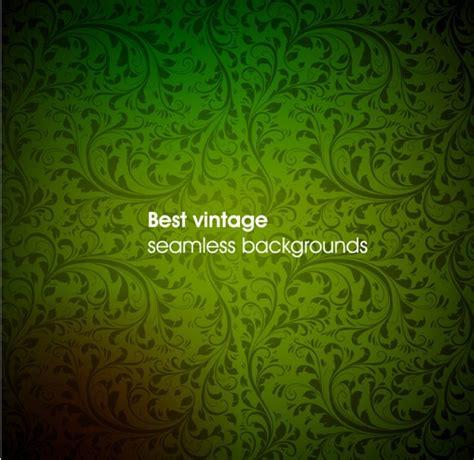vintage pattern green green vintage seamless pattern background vector free