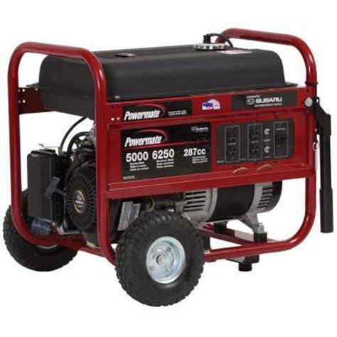powermate 5 000 watt gasoline powered manual start