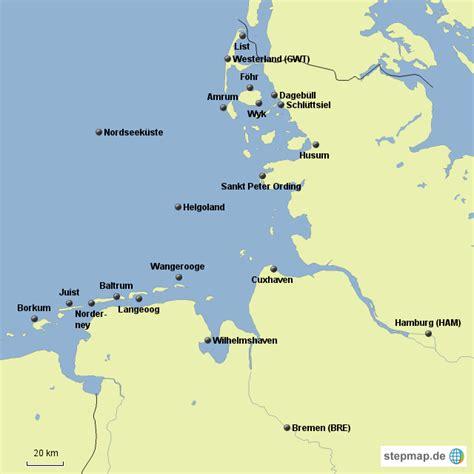 Deutsches Büro Grüne Karte Formular by Nordseek 252 Ste Anne26 Landkarte F 252 R Deutschland